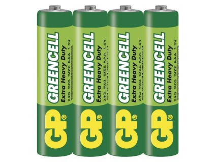 Baterie Greencell R03 (AAA), fólie (2ks)
