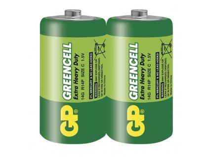 Baterie Greencell R14 (C), fólie (2ks)