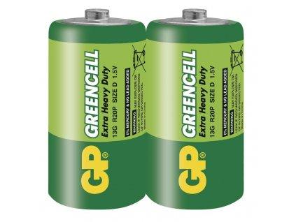 Baterie Greencell R20 (D), fólie (2ks)