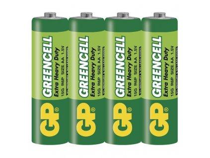 Baterie Greencell R6 (AA), fólie (4ks)