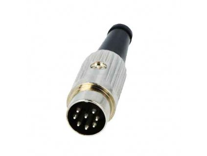 Konektor DIN 8pin 270° vidlice 610-0800