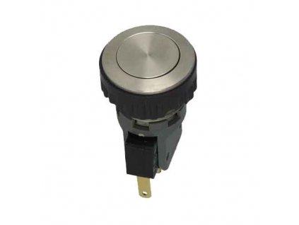 Tlačítko odolné MSM16ST stříbrné