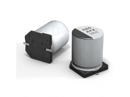 CE 100uF 50V 105°C SMD 8x10,2mm FK (Low ESR)
