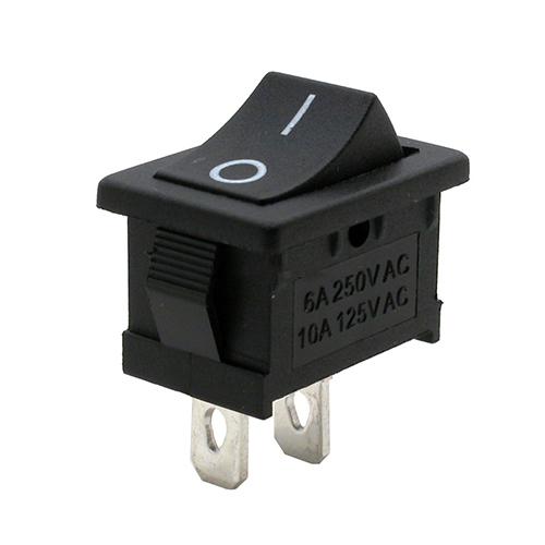 Kolébkový spínač ON-OFF 6A/250VAC černý