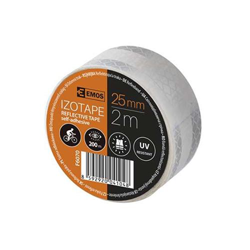 Emos Reflexní páska 25mm bílá 2m