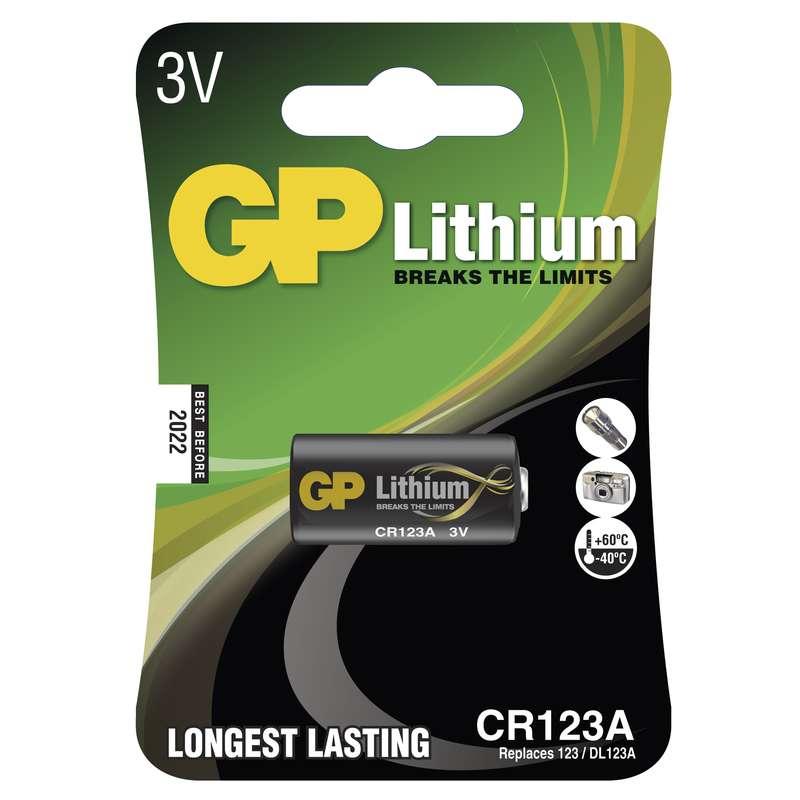 GP Batteries Baterie CR123A 3V 1400mAh GP
