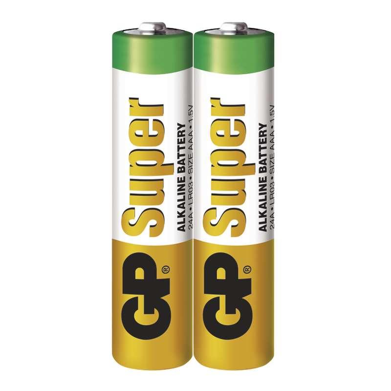 GP Batteries Baterie GP Super LR03 (AAA), fólie (2ks)