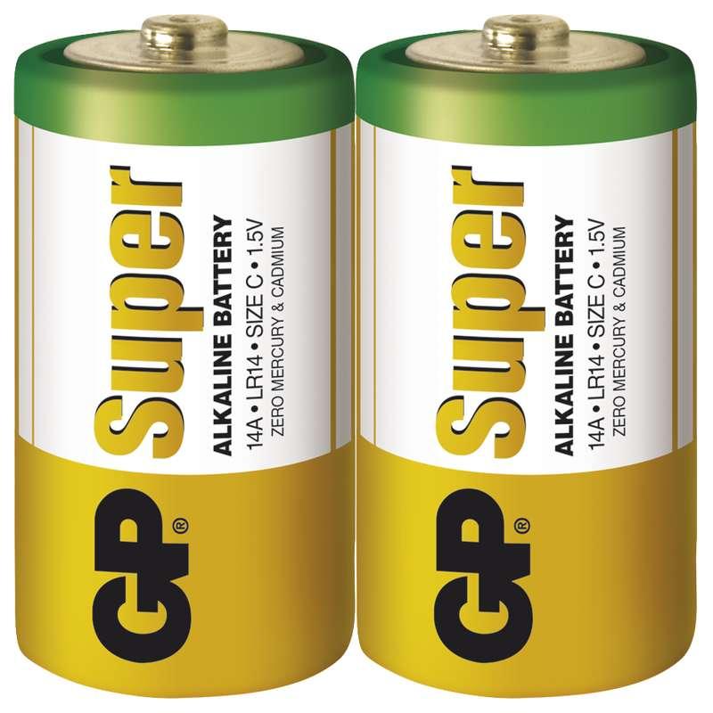 GP Batteries Baterie GP Super LR14 (C), fólie (2ks)
