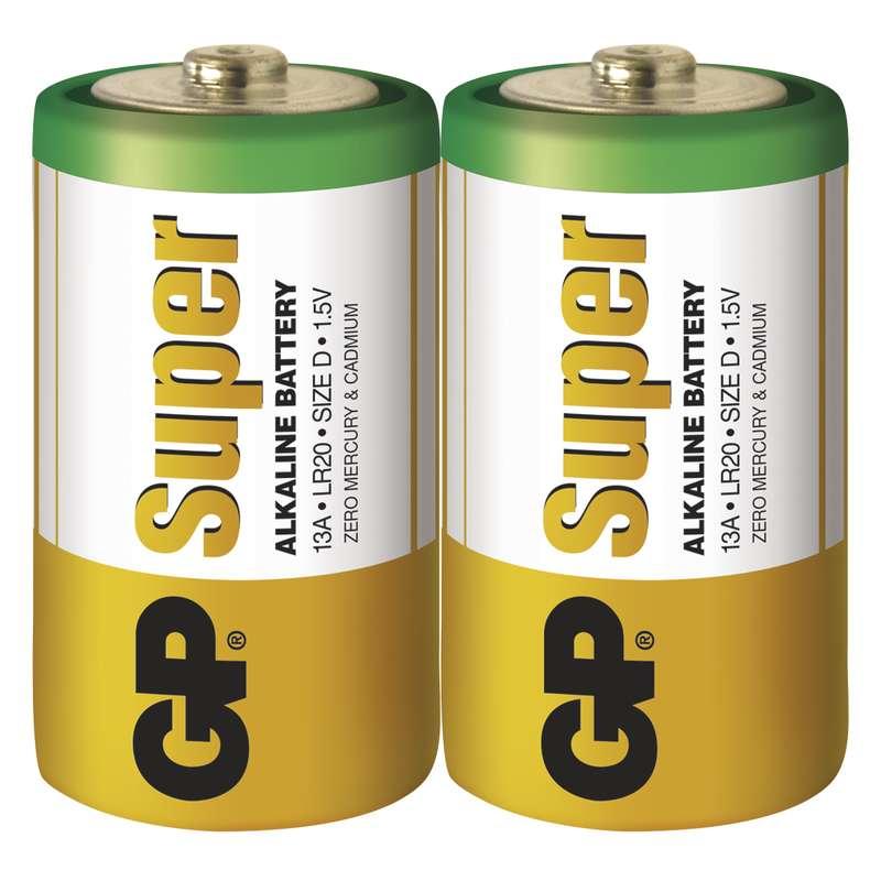 GP Batteries Baterie GP Super LR20 (D), fólie (2ks)