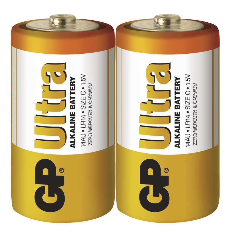 GP Batteries Baterie GP Ultra LR14 (C), fólie (2ks)