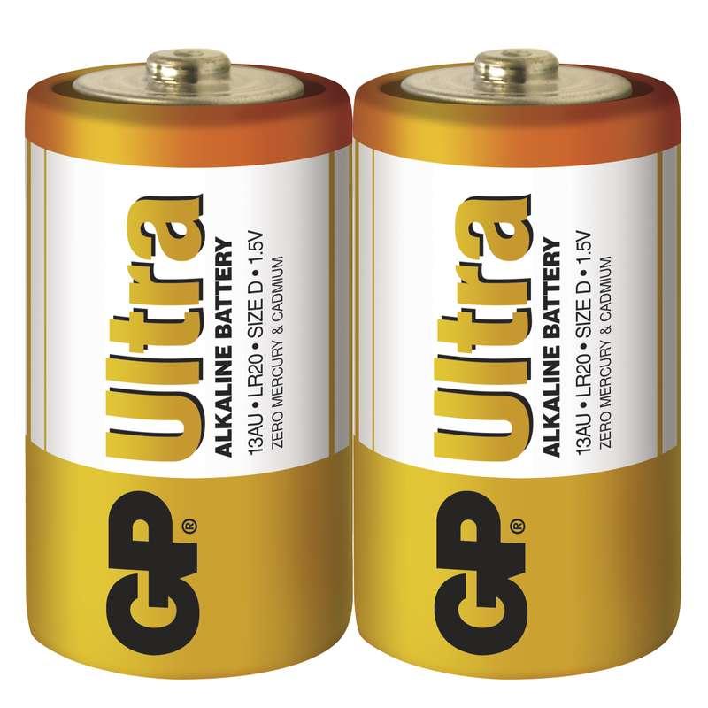 GP Batteries Baterie GP Ultra LR20 (D), fólie (2ks)