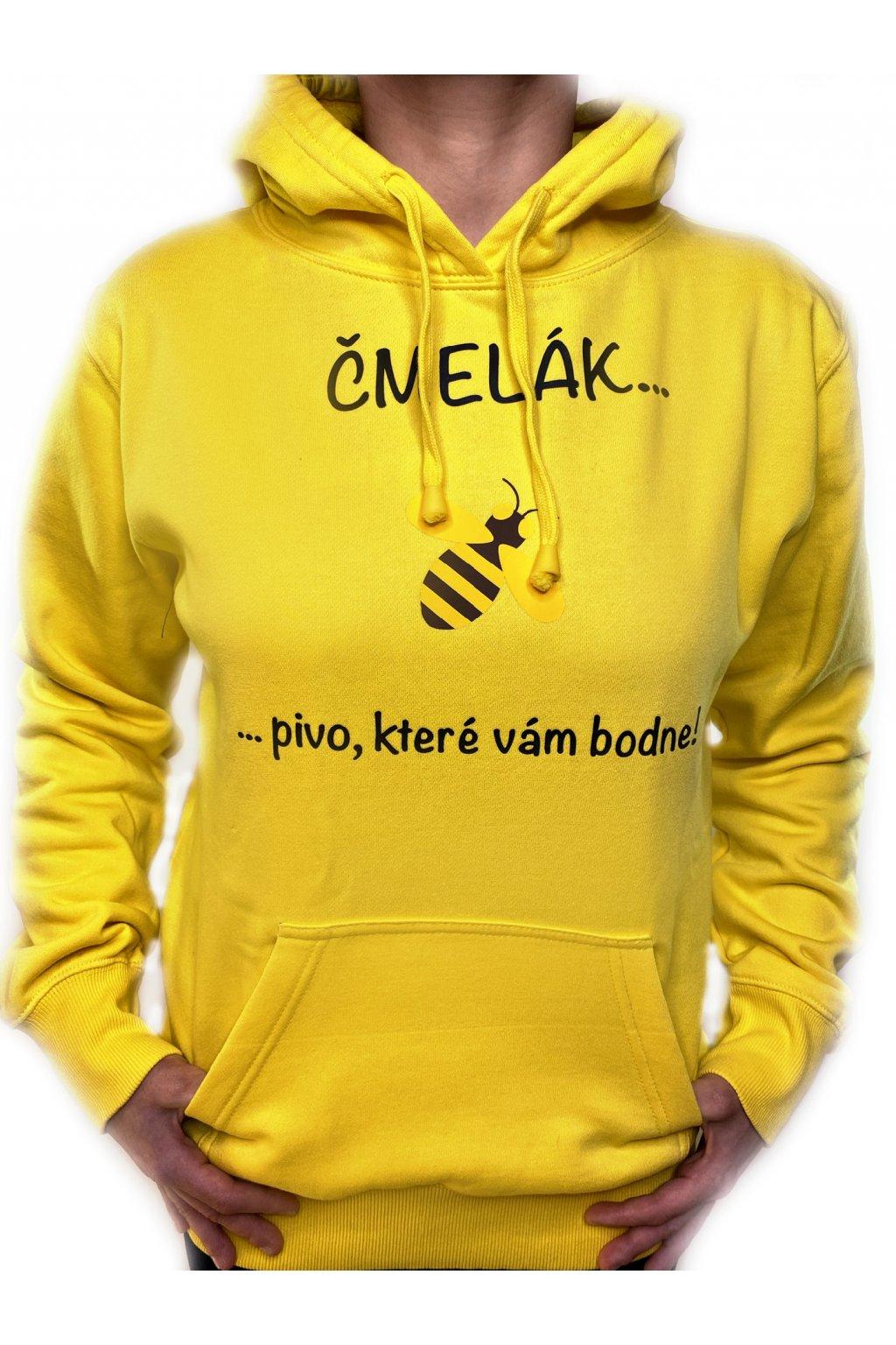 žlutá mikina předek