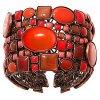 Checks Oval - červená Náramky > Pevné - 5450543290652