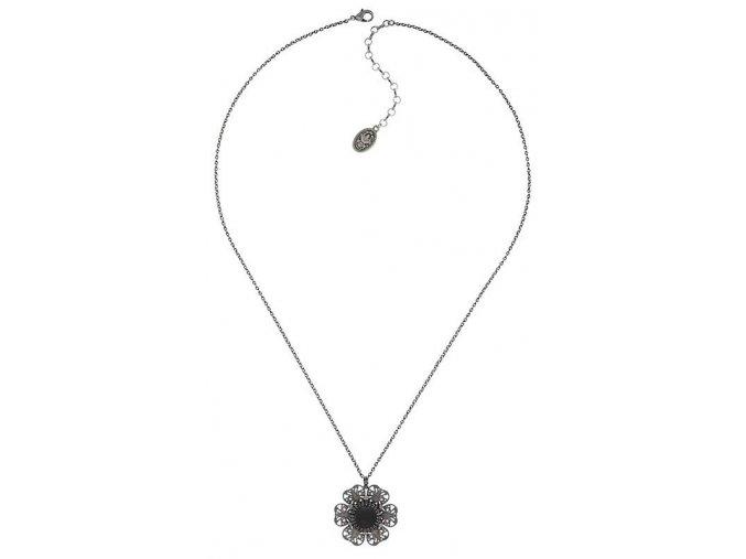 Flower Shadow - barva šedivá - Náhrdelníky - 5450543700243