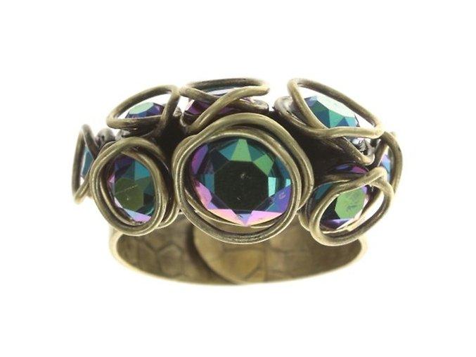 Sparkle Twist - modrá/zelená Prsteny - 5450543334233