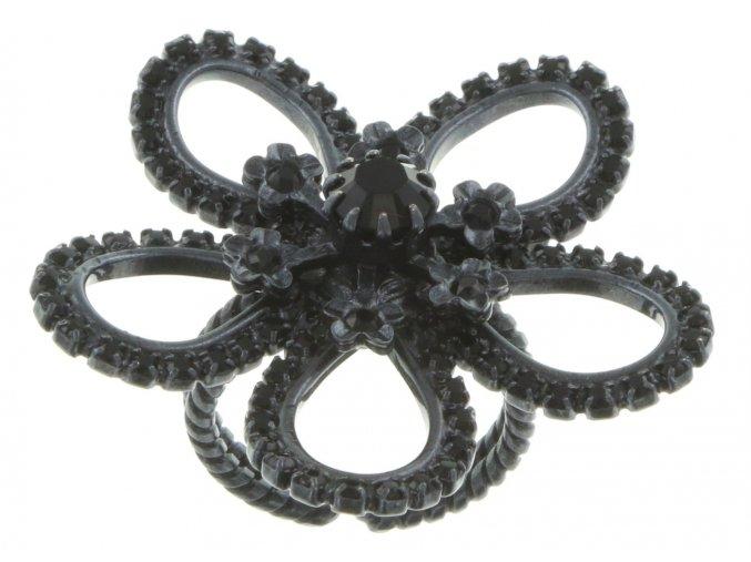 Cathedral Flower - černá Prsteny - 5450527429177