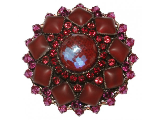 Josephine Baker - červená/oranžová Brože - 5450527614832