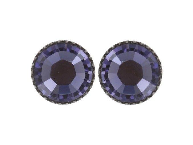Black Jack - fialová Náušnice > Puzety - 5450527760898