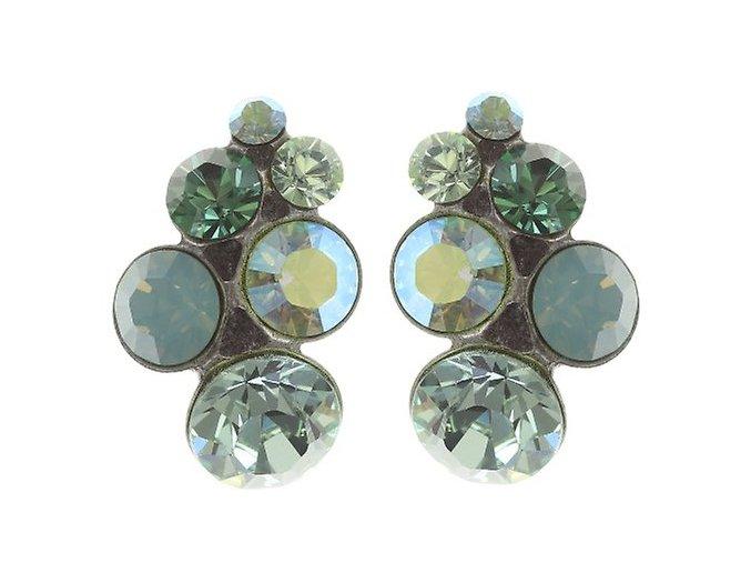 Petit Glamour - zelená Náušnice > Puzety - 5450527966832