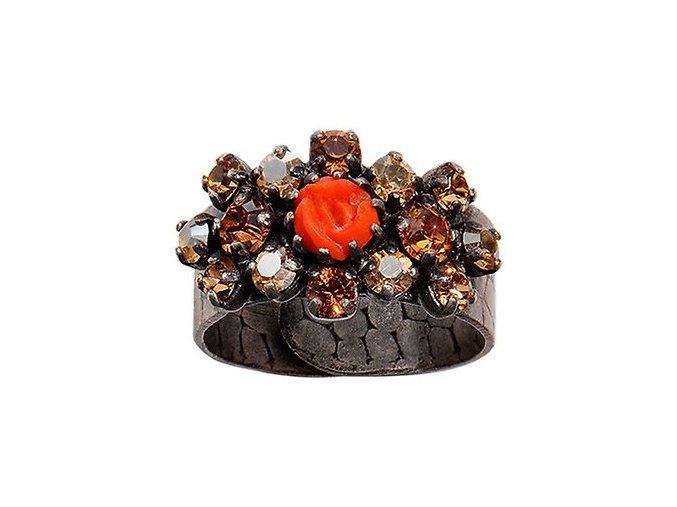 Victoria - červená/hnědá Prsteny - 5450527981606