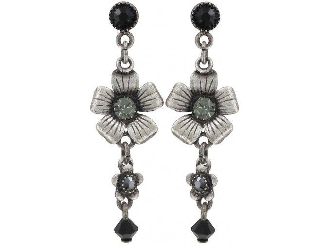 Mille Fleurs - černá Náušnice > Puzety - 5450543035581