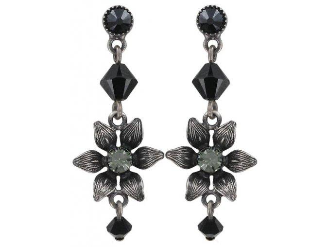 Mille Fleurs - černá Náušnice > Puzety - 5450543035598
