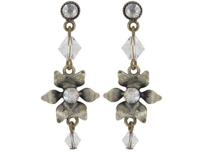 Mille Fleurs - bílá Náušnice > Puzety - 5450543035895