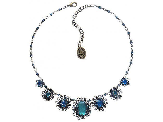 Chrysanthemum - modrá Náhrdelníky - 5450543078380