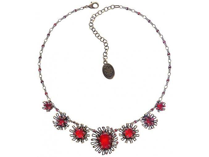 Chrysanthemum - červená Náhrdelníky - 5450543078403