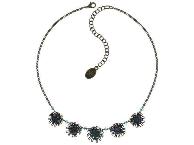 Chrysanthemum - modrá Náhrdelníky - 5450543078427