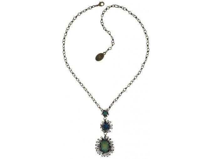 Chrysanthemum - modrá Náhrdelníky - 5450543078465
