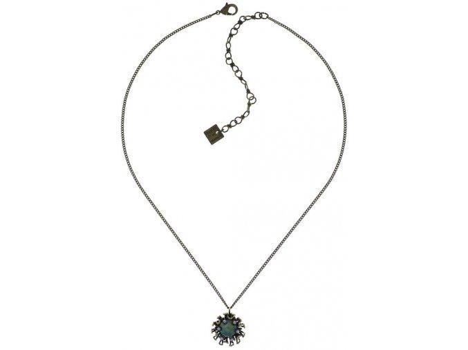 Chrysanthemum - modrá Náhrdelníky - 5450543078526