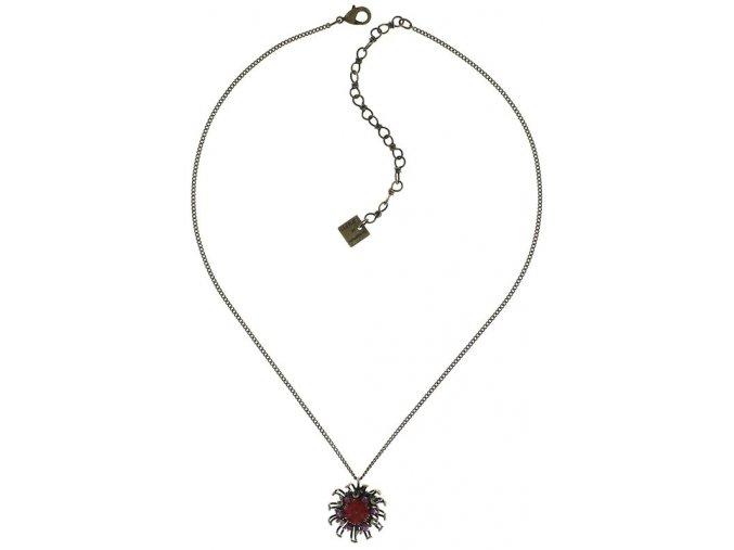 Chrysanthemum - růžová/červená Náhrdelníky - 5450543078540