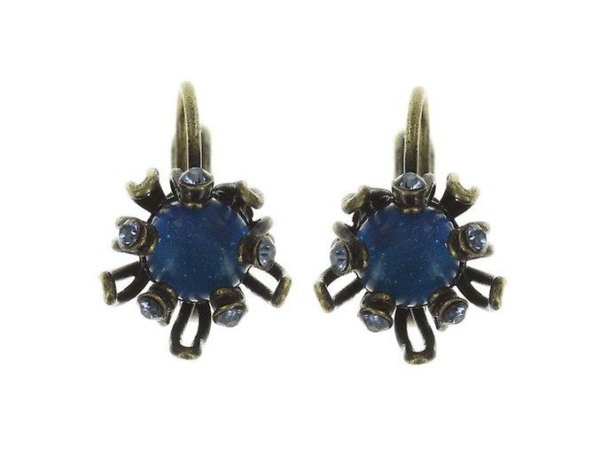 Chrysanthemum - modrá Náušnice > Klasickézapínání - 5450543078717