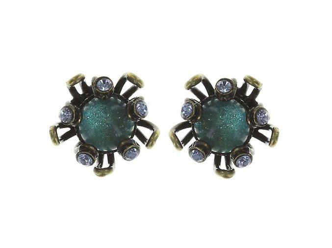 Chrysanthemum - modrá Náušnice > Puzety - 5450543078793