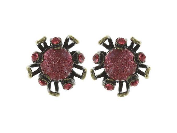 Chrysanthemum - růžová Náušnice > Puzety - 5450543078816