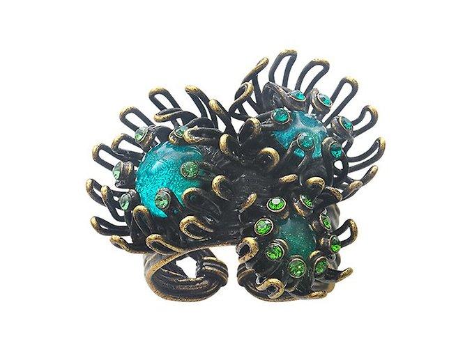 Chrysanthemum - modrá/zelená Prsteny - 5450543078854