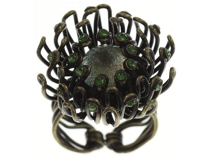 Chrysanthemum - modrá/zelená Prsteny - 5450543078915