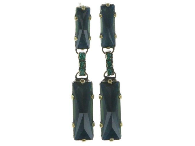 Manhattan Rocks - modrá/zelená Náušnice > Puzety - 5450543162416