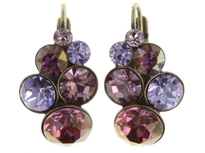 Petit Glamour - fialová Náušnice > Klasickézapínání - 5450543180281