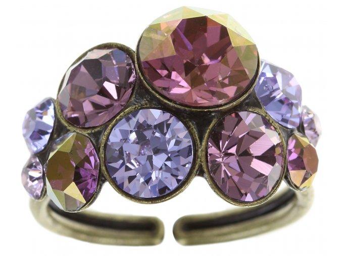 Petit Glamour - fialová Prsteny - 5450543180311