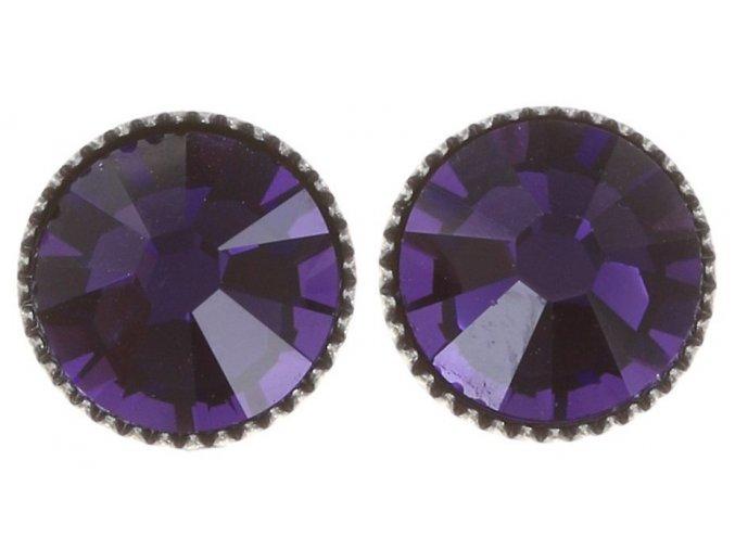 Black Jack - fialová Náušnice > Puzety - 5450543206028