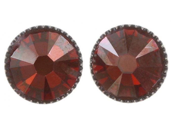 Black Jack - červená Náušnice > Puzety - 5450543206479