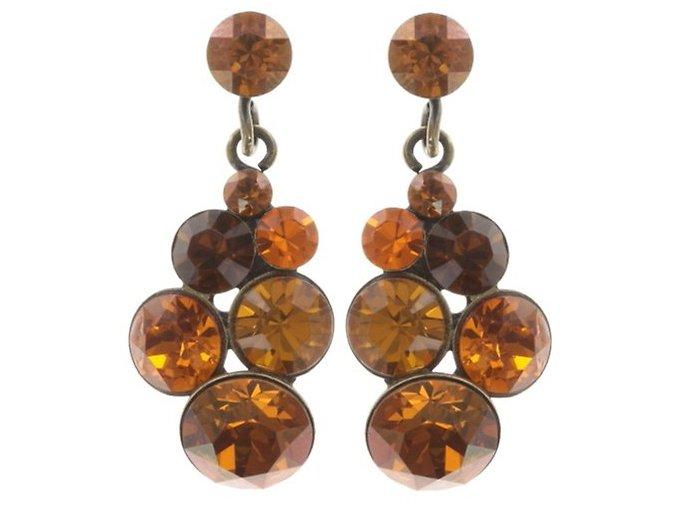 Petit Glamour - oranžová Náušnice > Puzety - 5450543241814