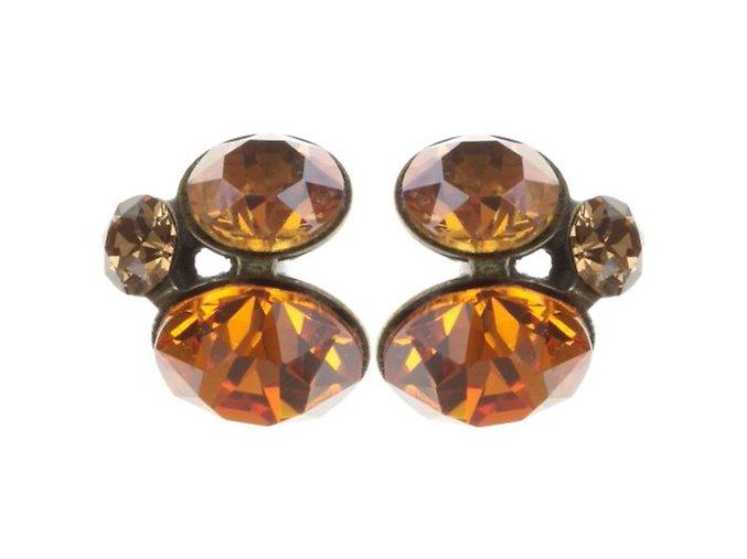 Disco Star - oranžová Náušnice > Puzety - 5450543241876