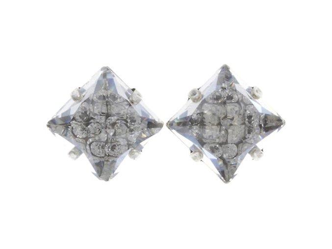 Iceberg De Luxe - bílá Náušnice > Puzety - 5450543244853
