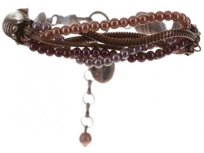 Chameleon - hnědá/růžová Náramky > Klasické - 5450543245256