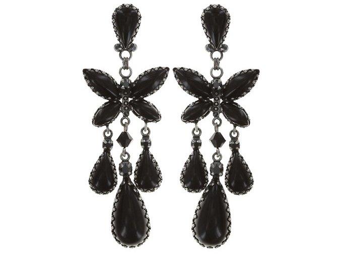 Fly Butterfly - černá Náušnice > Puzety - 5450543247434