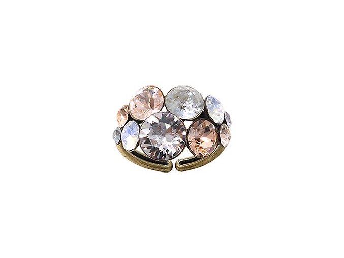Petit Glamour - hnědá/šedivá Prsteny - 5450543248097