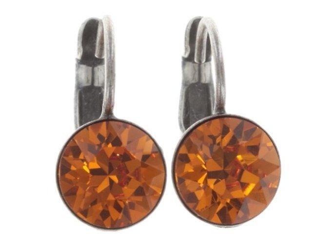 Black Jack - oranžová Náušnice > Klasickézapínání - 5450543252360